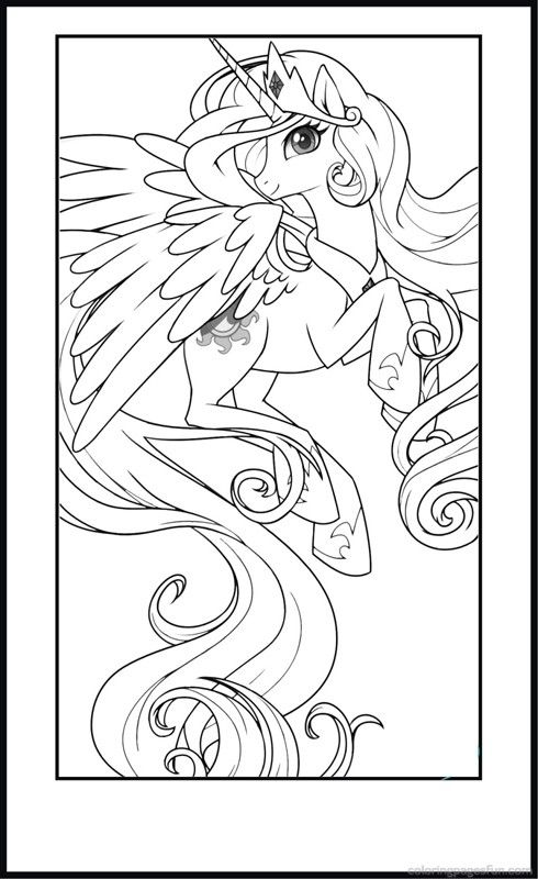 My Little Pony Coloring Pages Printable For Kids Coloring