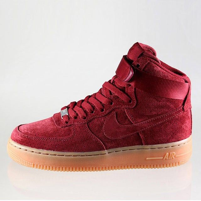 nike air force 1 hi suede red pumps