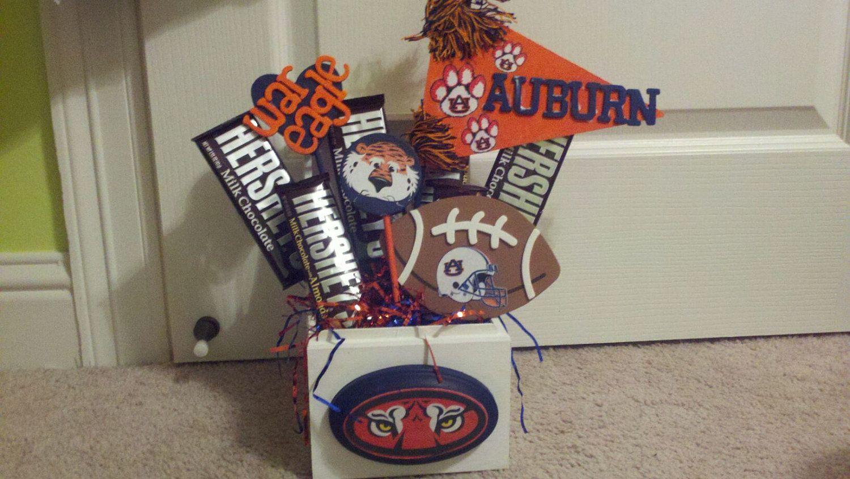 Auburn University Candy Bouquet: Make something like this ...