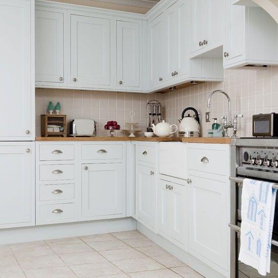 Kitchen Tiles For White Units white kitchen units | country kitchens | kitchen units