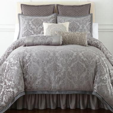 Jcp Royal Velvet Zinnia Jacquard Comforter Set Accessories Web