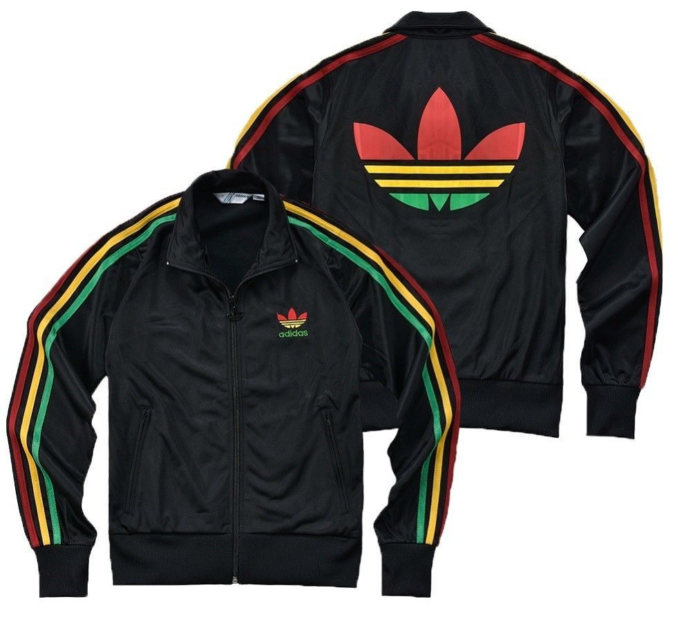 another chance 61cec a1ca4 NEW Adidas Originals Women Firebird Rasta Colorful Jamaica Bob Marley Jacket  !!!