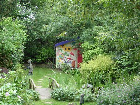 Garden Shed Mural.