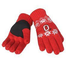 Officially Licensed NCAA Knit Glove Ohio State Buckeyes