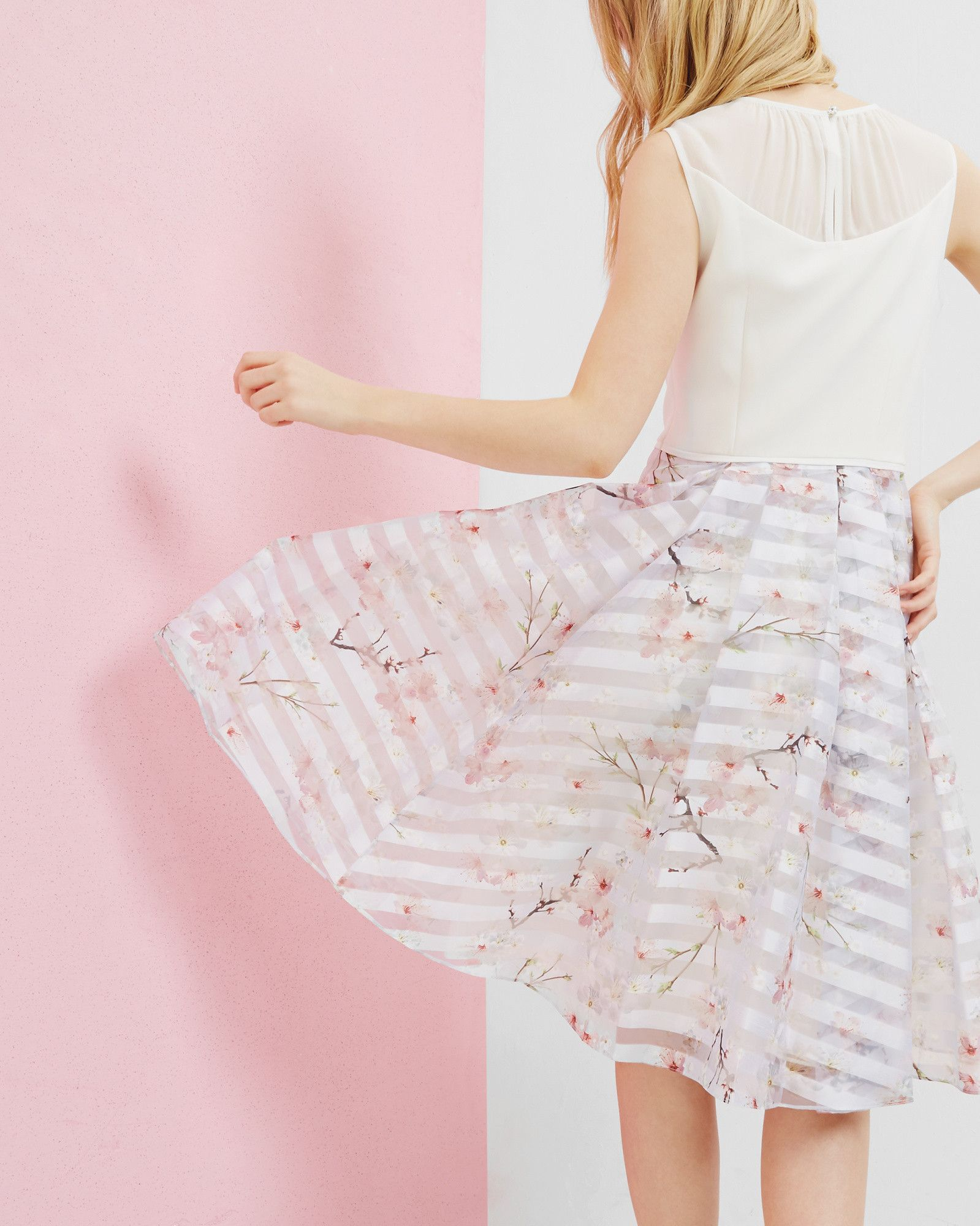 8cfcc1420e99 Oriental Blossom mesh detail dress - Light Gray