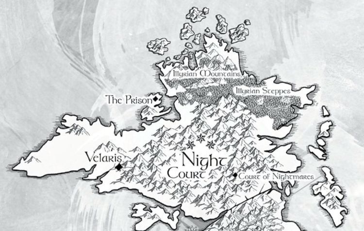 Night Court Map With Images A Court Of Mist And Fury Sarah J