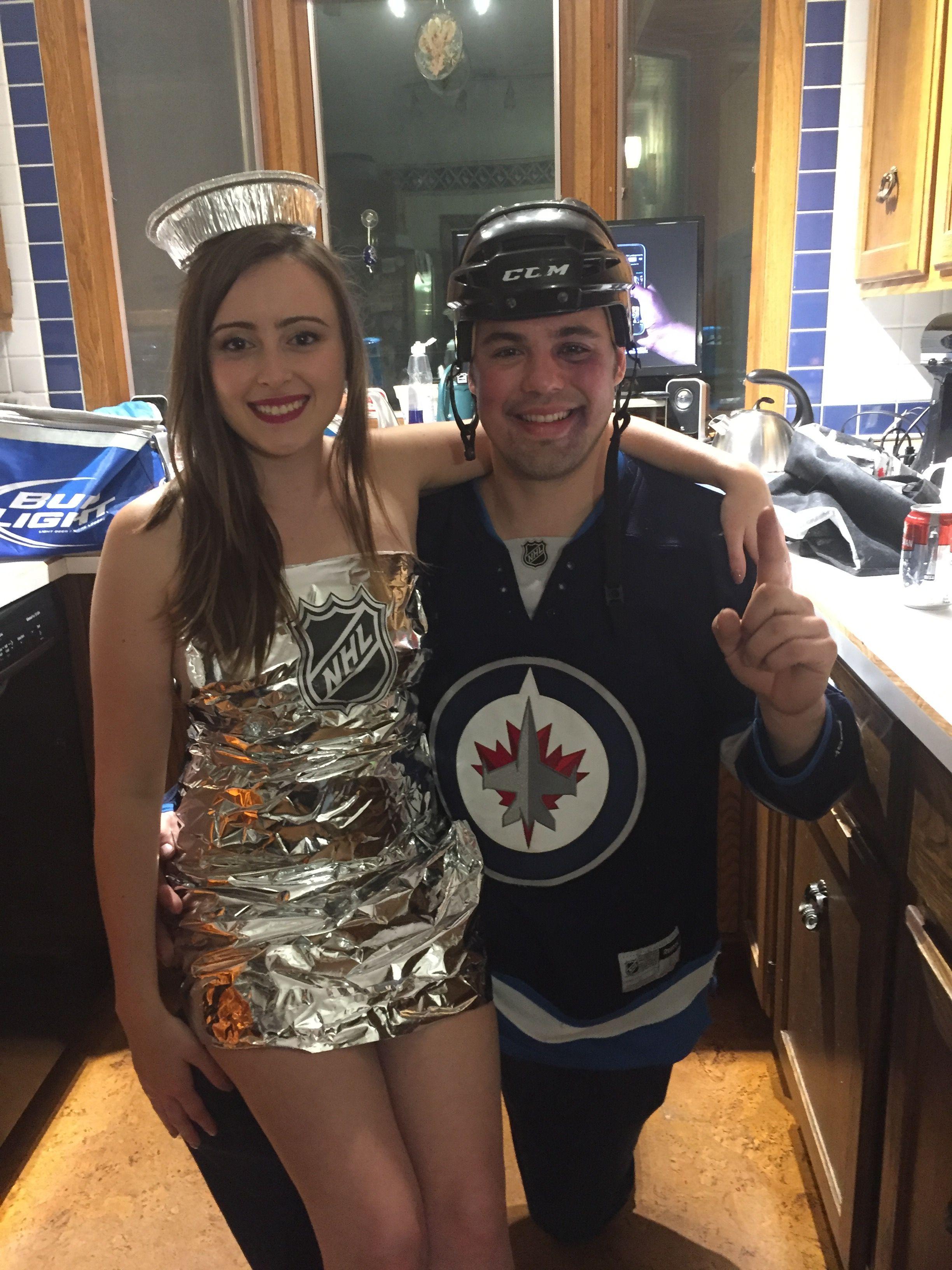 Stanley Cup Costume Winnipeg Jets Player Couples Costumes Stanley Cup Costume Halloween Costumes