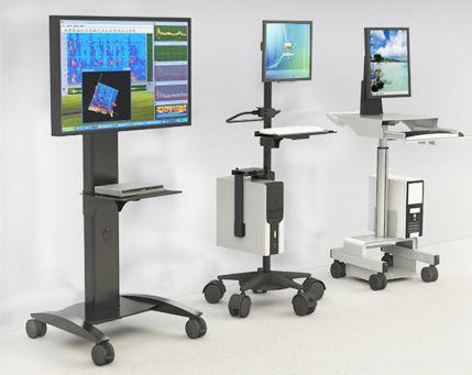 Mobile Computer Cart Ergonomic Furniture Pinterest
