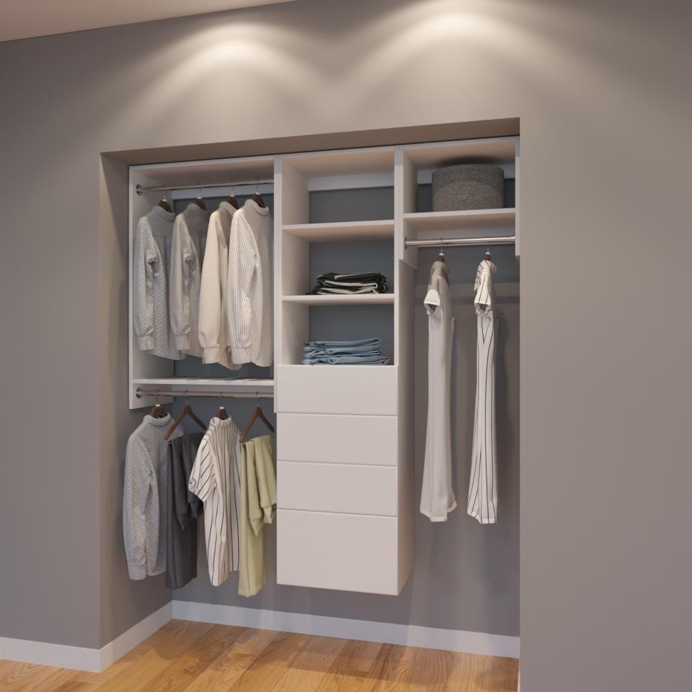 Modular Closets 5 Ft Closet Organizer System 66 Inch Style G
