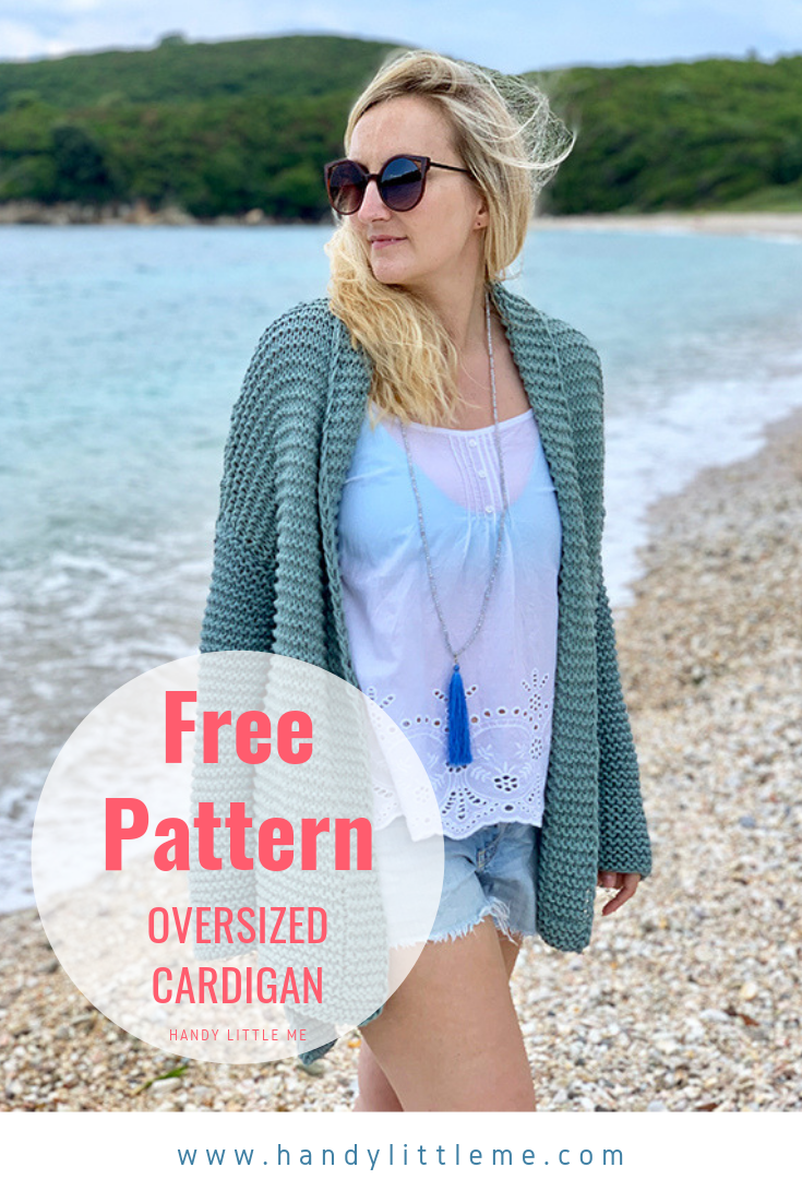 Photo of Oversized cardigan free knitting pattern