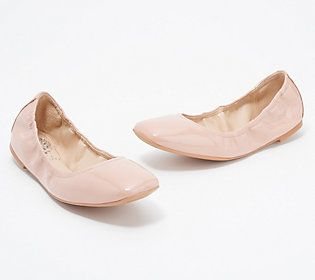 These comfy ballet flats are always in season. This classic design is updated with a square toe for more modern style. From Vince Camuto.