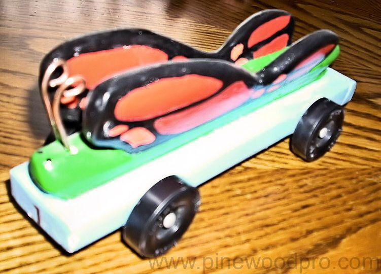 Butterfly Car Design | Pinewood Derby Car | Pinterest | Pinewood ...