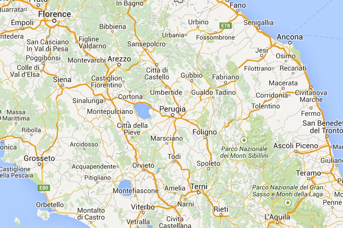 Tuscany Umbria Driving Map Italy In 2019 Tuscany