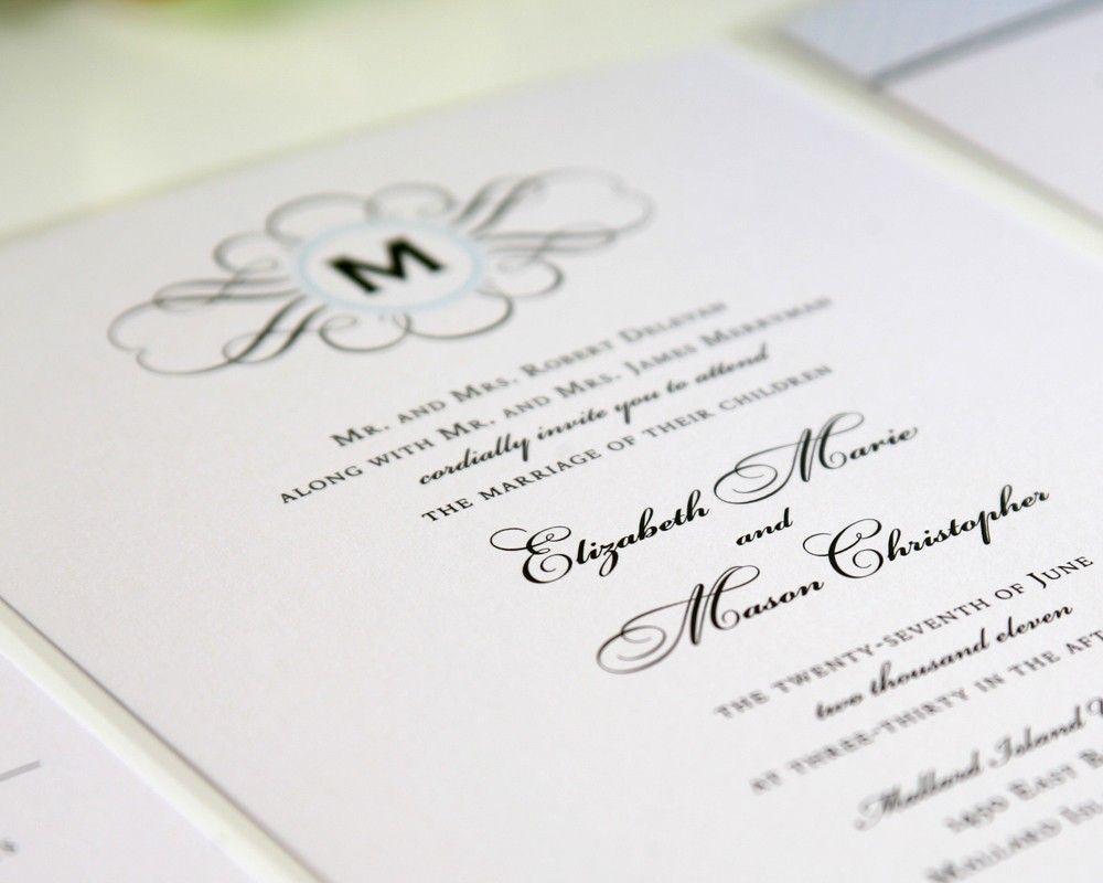 Vintage Wedding Invitation - 1920s, 1940s, Classic, Vintage ...