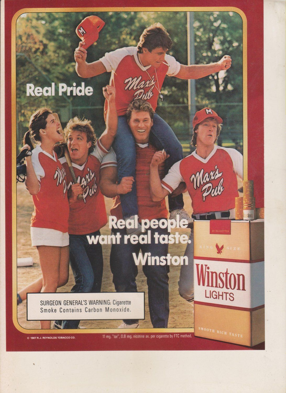 1987 magazine ad winston cigarettes advertisement print