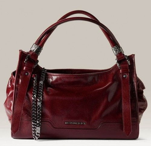 Red Burberry purse