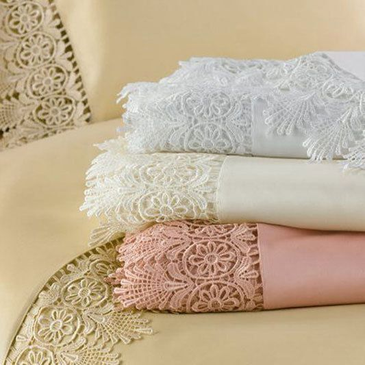 Tivoli Sheet Set   There's nothing like elegant lace trim to add a little something special to your bedroom decor