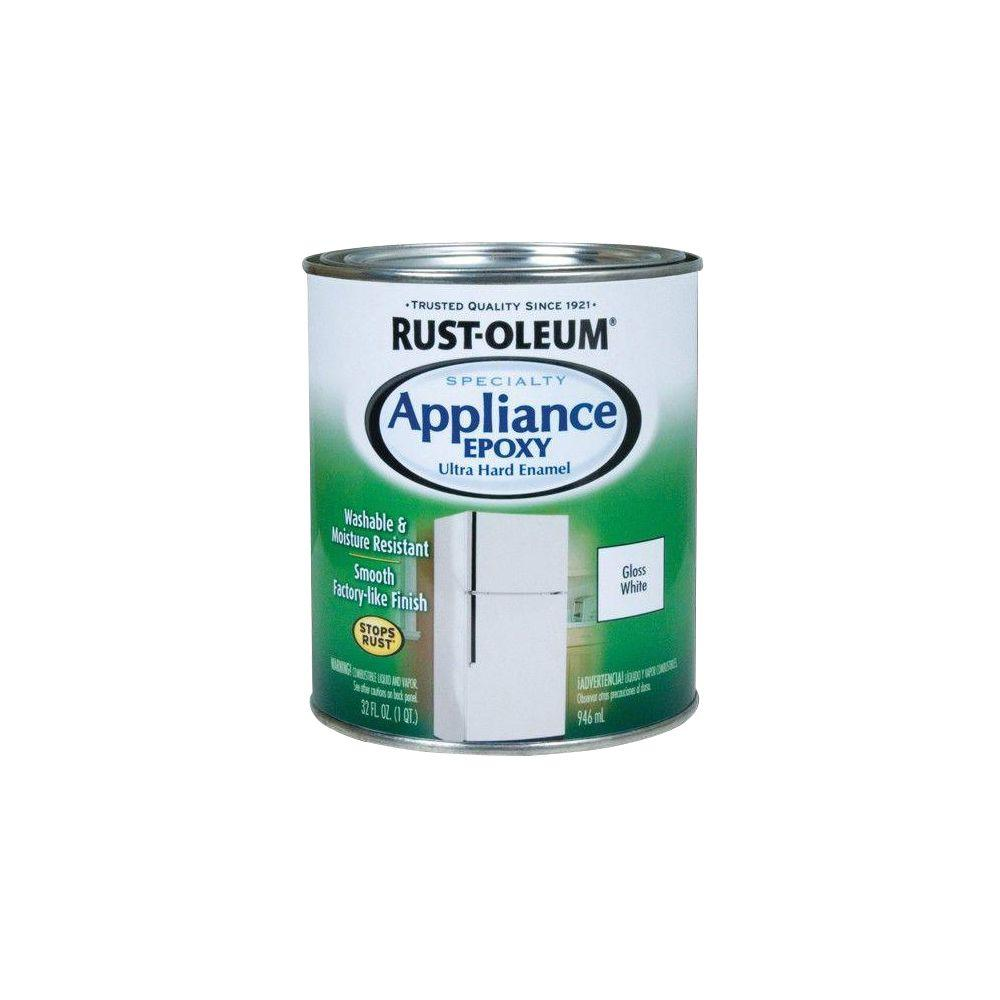Rust Oleum Specialty 1 Qt Appliance Epoxy Gloss White Interior