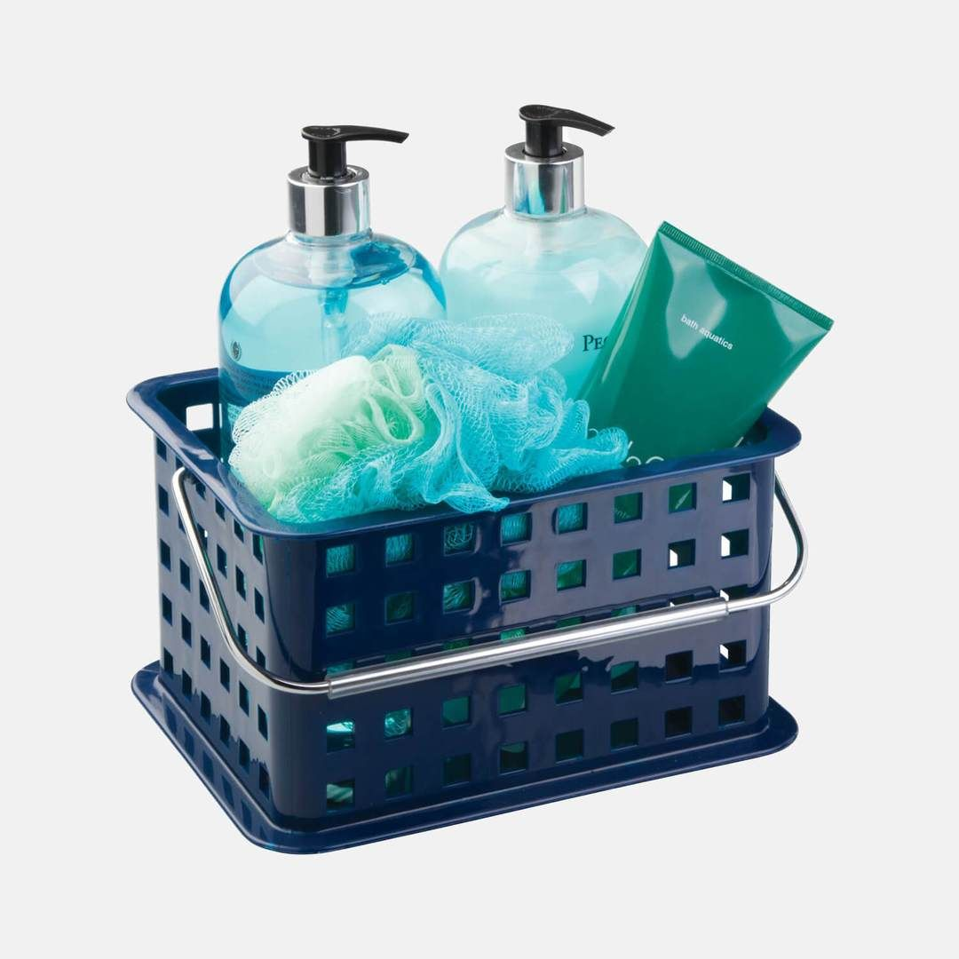 Basic Shower Caddy - Navy in 2020 | Shower, Cleaning wipes ...