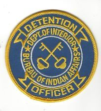 BIA BUREAU OF INDIAN AFFAIRS TRIBAL POLICE SHOULDER PATCH
