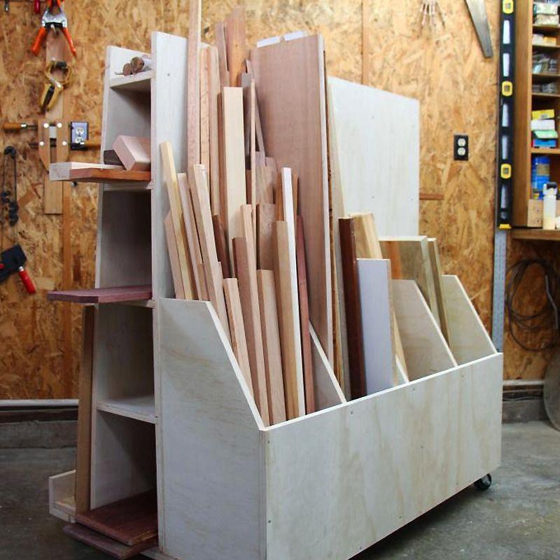 Plywood Garage Cabinet Plans: Lumber Storage Cart Woodworking