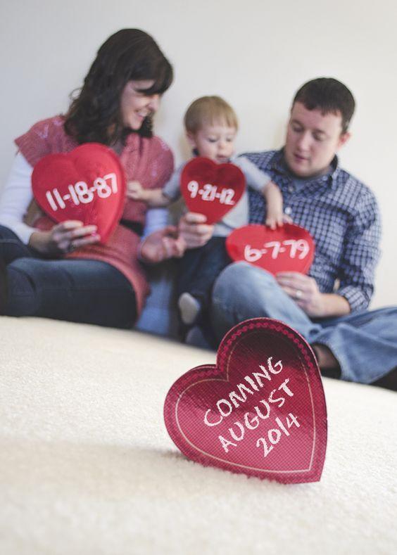 Valentines Day Pregnancy Announcement Ideas Babys Pinterest