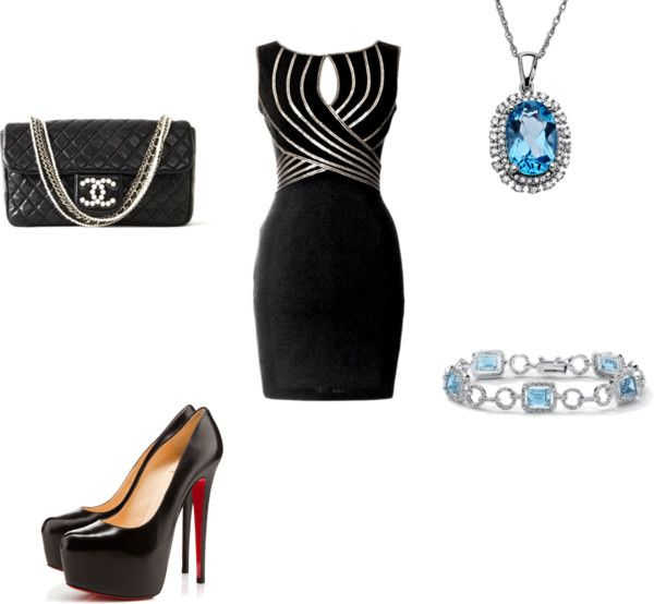 """Black-Tie Dinner Party"" by lchisner on Polyvore"