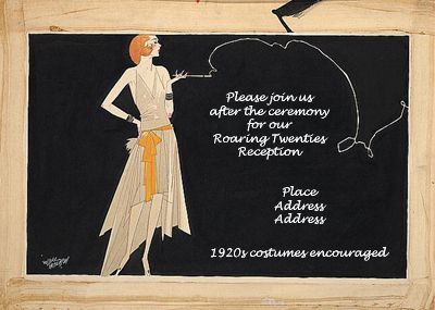 1920s Costume Party 1920s Wedding Theme Wedding Invitation Details Card Chic Wedding Invitations