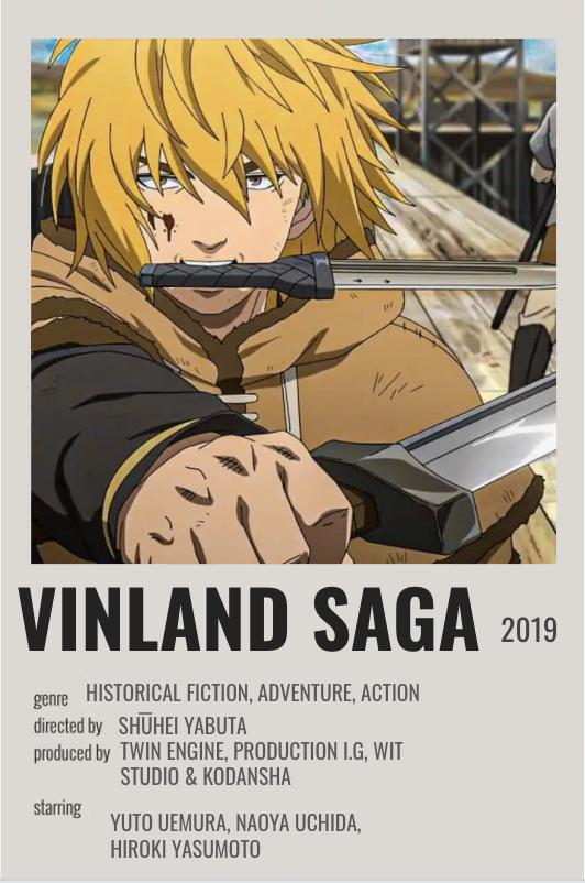 vinland saga poster in 2021 anime