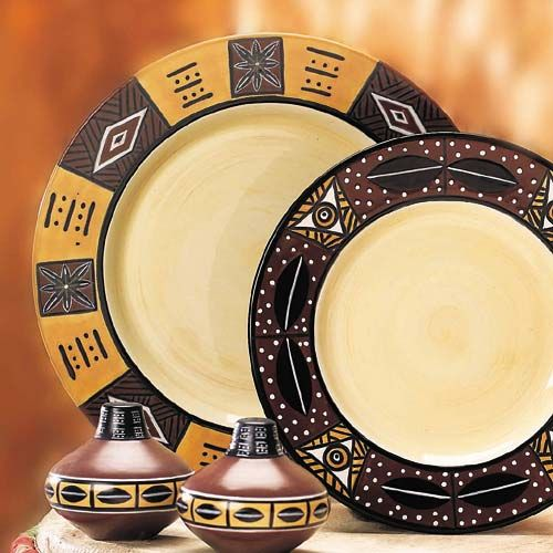African Dinner Plates & African Dinner Plates | Africa | Pinterest | Catalog Dining and ...