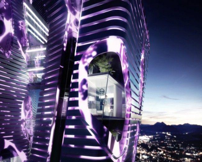 Indigo Bio-Purification Tower com fachada de Dióxido de Titânio