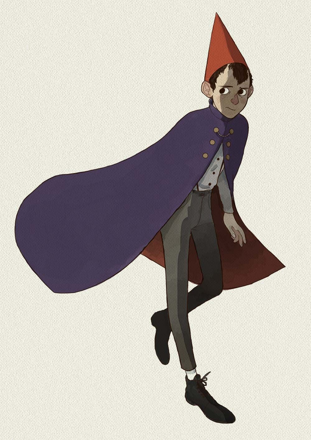 Over the garden wall art style  I couldnut resist drawing a very little Over the Garden Wall fan art