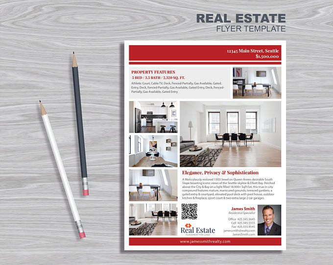 Real Estate Flyer Template Powerpoint Publisher And Indesign