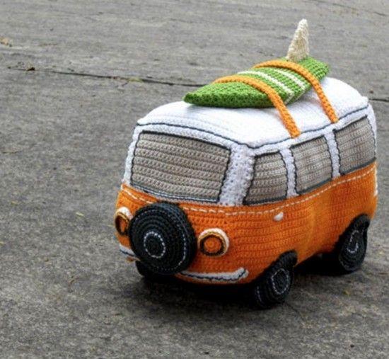 Crochet Volkswagen Bus Free Pattern Patterns Pinterest Häkeln