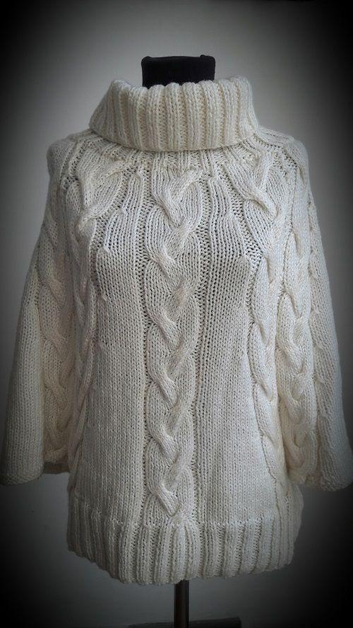 Patrón para tejer un sweater de mangas amplias | Cosas lindas para ...