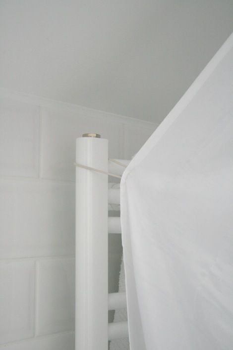 sloped ceiling bathroom shower curtain