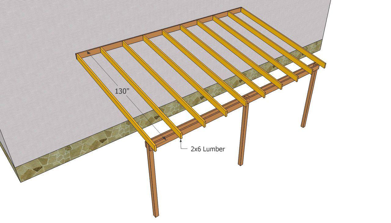 Installing the rafters Carport plans, Carport