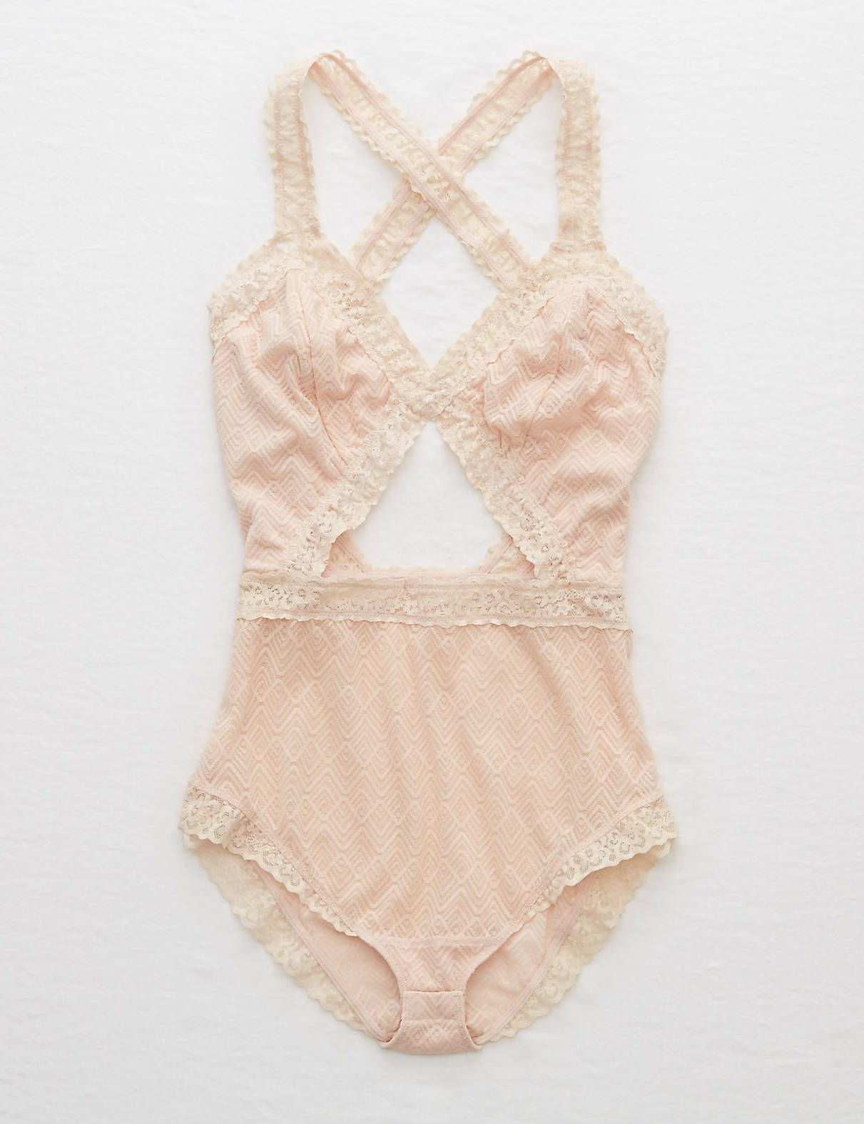 681f94ddb1754 Be Pretty In Pink in the Aerie Lace Cutout Bodysuit