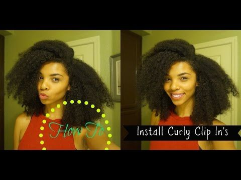 HOW TO| Curly Clip In's on (Short Natural Hair) - YouTube