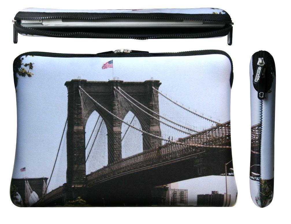 Laptop case #caseable Brooklyn Bridge design $69.90