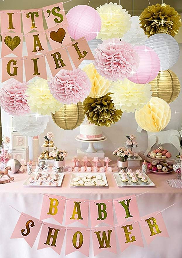 Cream Peach Gold White Tissue Paper Pom Poms Paper Flowers