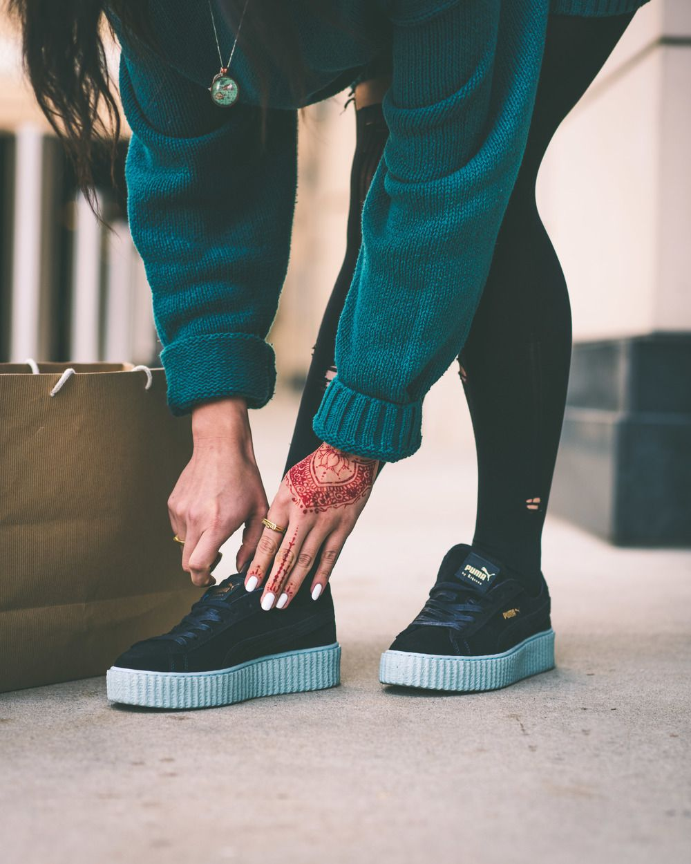 Puma Velvet Creepers On Foot