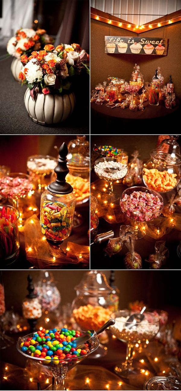 35 Elegant And Spooky Halloween Wedding Ideas Halloween Themed Wedding Halloween Wedding Candy Buffet Wedding