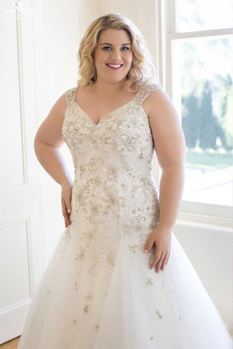 Plussize perfection wedding dresses for uthoseu problem areas