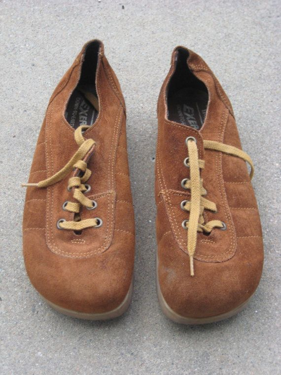 9ee434a879051 Vintage Thom McAn Exersole Brown Suede Shoes by alanna88 on Etsy ...