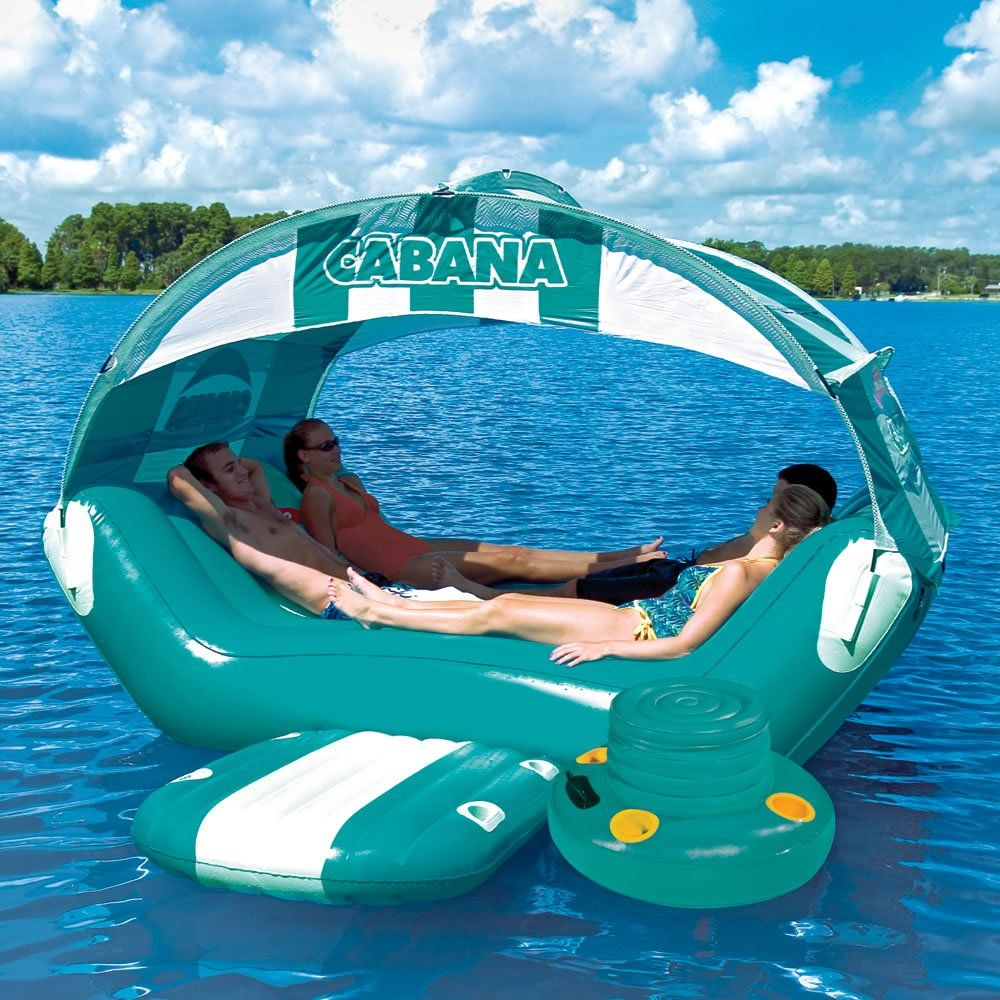 Floating Cabana Awesome ★ ★ This Inflatable Raft Has A