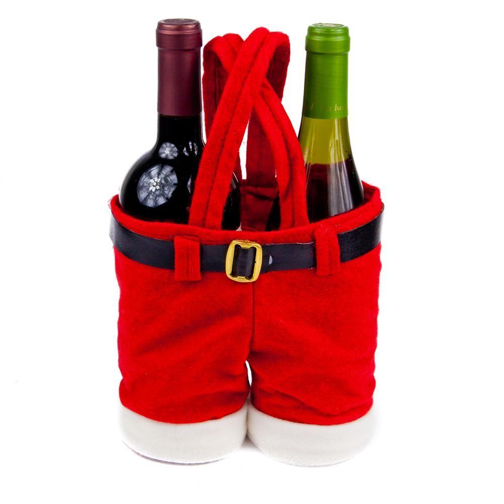 Santa Pants Wine Bottle Holders Wine Bottle Holders Pants Gift Christmas Fun