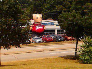 Kia hamster balloon on Rt 22 in Monroeville PA  Critters