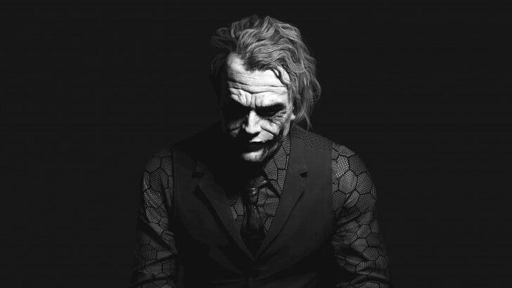 Heath Ledger S Joker Black White Portrait Joker Batman Wallpapers Backgrounds Fond Black Wallpaper Iphone Dark Black Wallpaper Iphone Joker Background