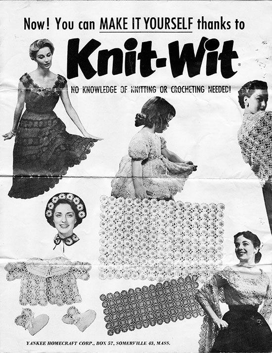 Flower Looms: Knit-Wit Instructions Sheet from 1954 | Knit lovin ...